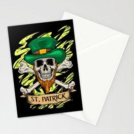 St. Patrick Skull - Irish St. Patrick's Day Stationery Cards