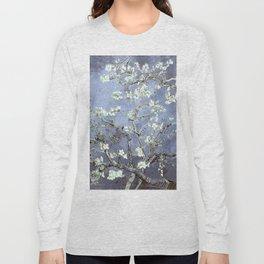 Vincent Van Gogh Almond Blossoms : Steel Blue & Gray Long Sleeve T-shirt