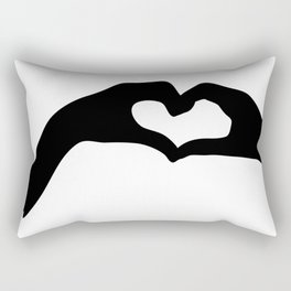Hearts out of Hands - Silhouette Rectangular Pillow