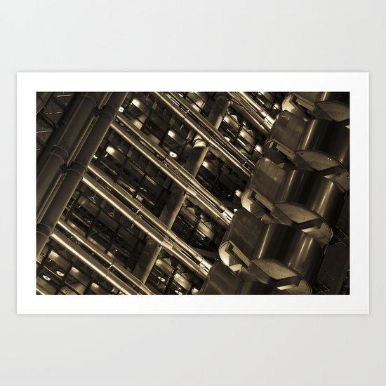 Lloyds of London Abstract Art Print