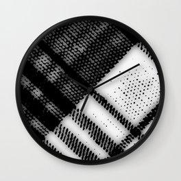 Grey Plaid Wall Clock
