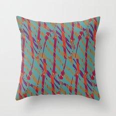 TORN STRIPES Throw Pillow