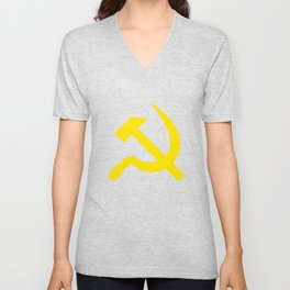 KGB Hammer And Sickle Soviet Union Russian USSR Unisex V-Neck