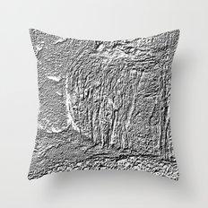 Black and white concrete texture Throw Pillow