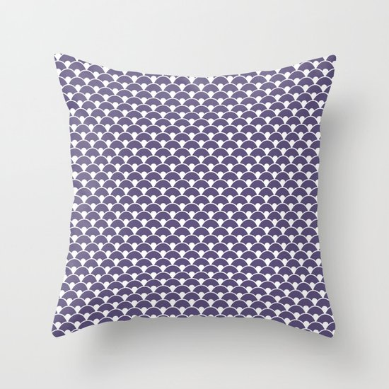 Dragon Scales Deep purple Throw Pillow