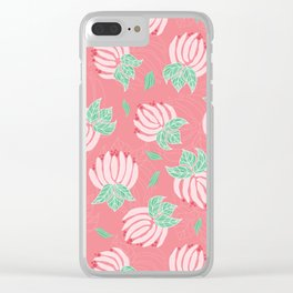 Blush Bloom Peony Blossom Clear iPhone Case