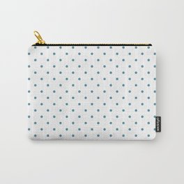 Small Blue Polka dots Background Carry-All Pouch
