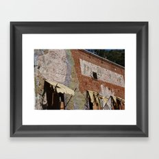 Paint Brick Face Framed Art Print