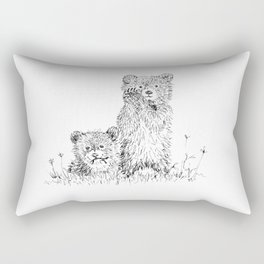 Bear Cubs Rectangular Pillow