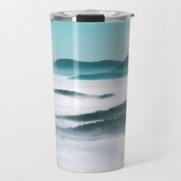 Layers of hills, fog and trees Travel Mug