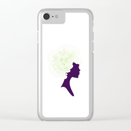 Rose Silhouette Clear iPhone Case