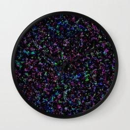 Black Light Color Spray Wall Clock