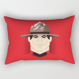 Mountie Rectangular Pillow