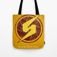 samus Tote Bags featuring Samus Hero by Head Glitch