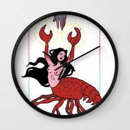 He's Her Lobster Wall Clock