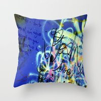 poem Throw Pillows featuring POEM by soem2014