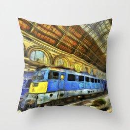 Vincent Van Gogh Railway Station Throw Pillow