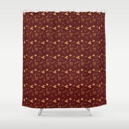 Gryffindor Pattern Shower Curtain
