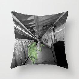 Unseen Monsters of New York - Umpteen Chunk Throw Pillow