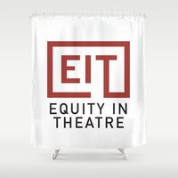 theatre Shower Curtains featuring Equity in Theatre by PlaywrightsGuild