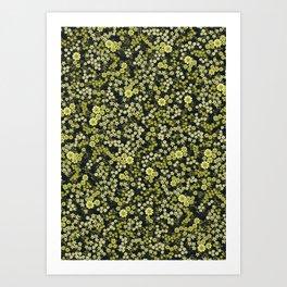 Oriental floral ditsy print Art Print