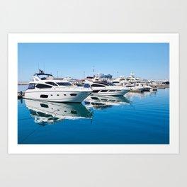 Sea Yacht Club in sunny day Art Print