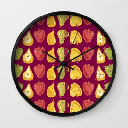 Apples & Pers Wall Clock