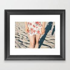 Flower Dress Framed Art Print