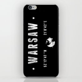 Warsaw coordinates iPhone Skin
