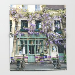 Au Vieux Paris Throw Blanket
