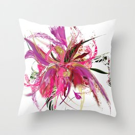 Pink Flow by Mia Throw Pillow