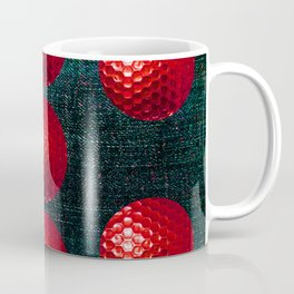 SHINY RED GOLF BALLS Coffee Mug