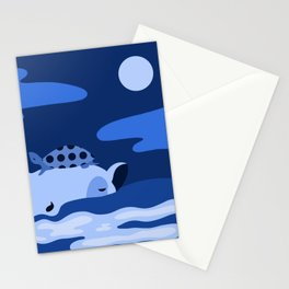 Animal Series: Blue Ippo + Turtle Stationery Cards