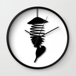 Black & White Bird's Wall Clock
