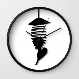 Black & White Bird's Wall Clock