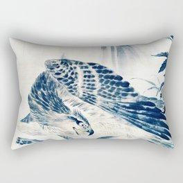 Eagle Attacking a Mountain Lion Rectangular Pillow