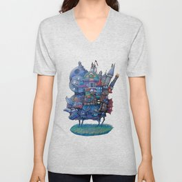 Fandom Moving Castle Unisex V-Neck