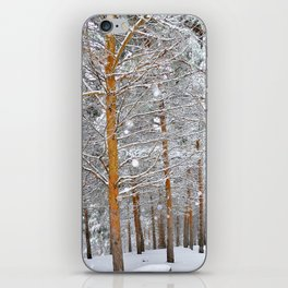 """""""Into the deep forest. Snowing"""" iPhone Skin"""