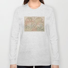 Vintage World Ocean Currents Map (1905) Long Sleeve T-shirt