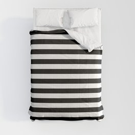 Simple Black & White Stripes Comforters