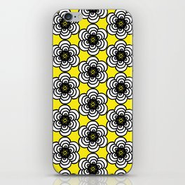 Yellow and Black Flowers iPhone Skin