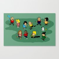 peanuts Canvas Prints featuring Juts Peanuts!! by Fabian Gonzalez