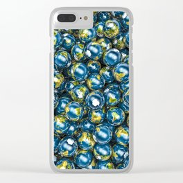 Earths / 3D render of Earth globes Clear iPhone Case