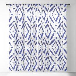 Shibori Diamond pattern Sheer Curtain