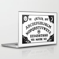 ouija Laptop & iPad Skins featuring Ouija Board by Mobii