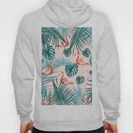 Tropical Flamingo Pattern #3 #tropical #decor #art #society6 Hoody
