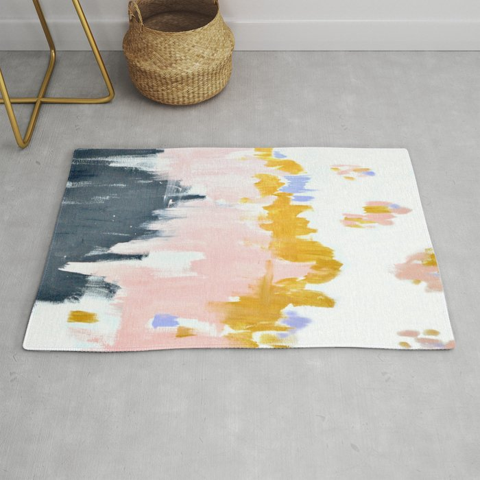 Multicolor spring abstract Rug