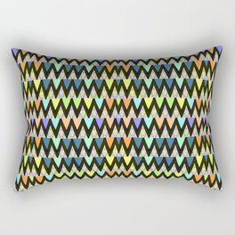 Classy Retro Trippy Vintage Vortex Triangle Print Rectangular Pillow
