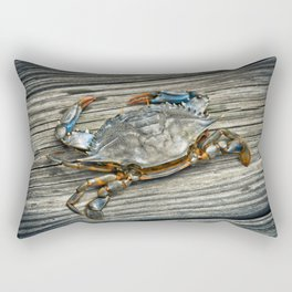 """Busted Peeler"" - Maryland Blue Crab Rectangular Pillow"