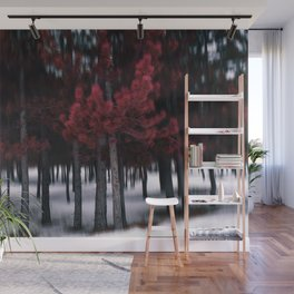 the red forest Wall Mural